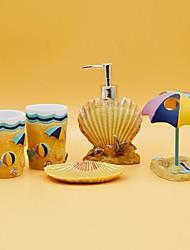 banho conjunto de acessórios, praia em resinas de verão 5 ternos