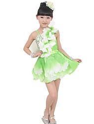 vestido del ballet etapa flor grande de la niña