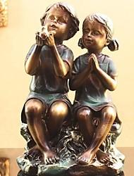 """9 """"h garçon et une fille décoration de résine décor à la maison"""