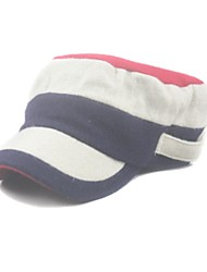 chapéu militar lã stripe / chapéu apartamento de unisex
