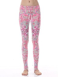 Yokaland Yoga Pants Body Shaper Elegant Legging Workout Fitness Yoga Pant with Paisley Print Sports Wear