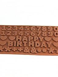 Happy Birthday Style Ice Lattice Ice Cubes Chocolate Mold