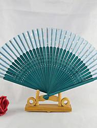 Peacock Wedding Big Hand Fan---Set of 4