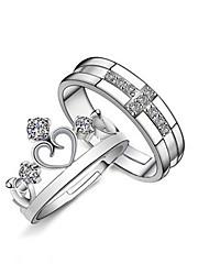 XSJ Women's 925 Silver Fashion Rings(One Pair)