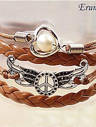 perle d'aile bracelet tressé de paix bracelets d'inspiration bijoux de eruner®women