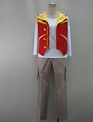 Cosplay Costumes Super Heroes / Power Rangers Movie Cosplay Red Patchwork Vest / Shirt / Pants Halloween / Christmas / New Year Male