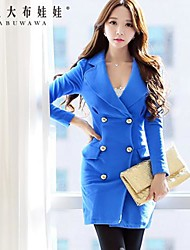 Women's Blue Dress , Bodycon/Casual Long Sleeve