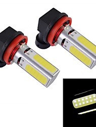 H11 10W 330~380LM 4-LED White Light Car Fog Lamp (2-Piece Pack)