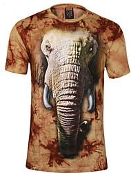 camisetas impressão floral dos homens penhasco walker