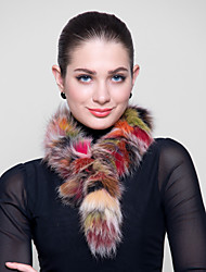 pelliccia di volpe avvolge faux involucro colorato pelliccia