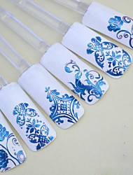 1x 108 PCS  3D Blue Flower  Nail Art Stickers