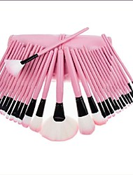 Professional Brush Set with 32Pcs Brushes and Pink/Black Bag