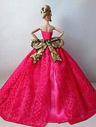 Barbie-Puppe atemberaubenden rosig Feiertagskleid für Prinzessin Gnade