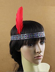 Indian Style Feather Carnival Headband