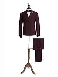 rouge tailorde soild costume ajustement 100% laine