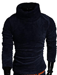 Les chandails des hommes édition han laine pull épaississement col roulé stretch pull