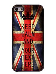 caja personalizada bandera del Reino Unido a mantener el caso del diseño metal tranquilo para el iphone 5 / 5s