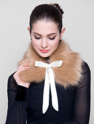 Fur Wraps Faux Fox Wraps with Ribbon(More Colors)