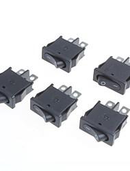 2-pin-bouchon 2 étapes interrupteur à bascule plat 6a / 250v 10a / 125v (5pcs)