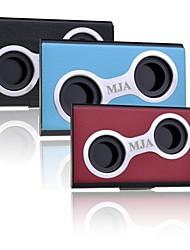 personalizado furos de design criativo caso de cartão de metal