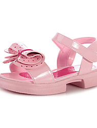 Sandales ( Noir/Rose ) - Simili Daim - Escarpin-sandale