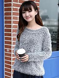 maglione di colore solido delle donne (più colori)