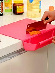 Creative Multifunctional Chopping Board,Plastic 29×38×6.7 CM(11.5×15.0×2.7 INCH) Random Color