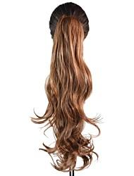 Clip di 16 pollici donne ponytails lunghi ricci