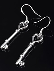 Titanium and Silver Rose Shaped  Pierced  Women's Earrings