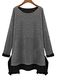 Vestidos ( Algodón )- Casual Manga Larga para Mujer