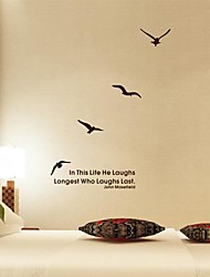 Wall Stickers Wall Decals,  Modern The geese flying south PVC Wall Stickers