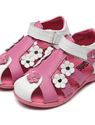 Girls' Shoes Outdoor / Casual / Athletic Calf Hair Summer Comfort / Slingback / Round Toe / Open Toe / Sandals Flat HeelRivet / Flower /