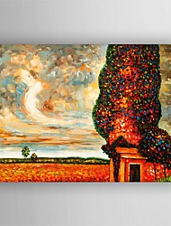 Oil Painting Modern Abstract Landscape Tree Painting Hand Painted Canvas with Stretched Framed