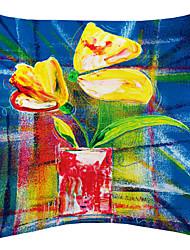 TWOPAGES® Excellent Flower Painting Velvet Decorative Pillow Cover