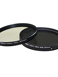 Новый взгляд ND2 к ND400 фильтра + CPL фильтр для камеры (67мм)