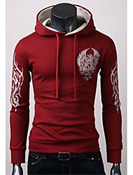Playgame Men's Casual Floral Print Hoodie