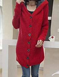 Women's Blue/Red/Yellow Cardigan , Casual Long Sleeve
