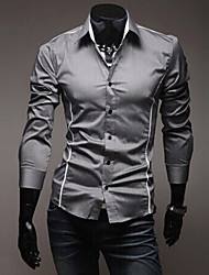 Playgame Men's Casual Long Sleeve Shirt