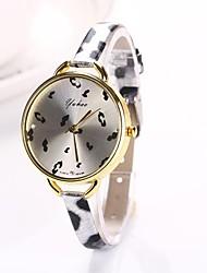 Women Big Circle Dial  Leopard Thin Brand Luxury Lady Watch C&D-286
