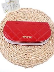 Women's Fashion Zipper Cowhide Handbag Long Wallet
