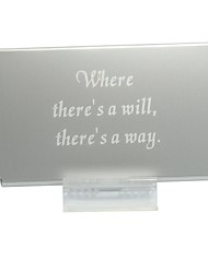 Personalized Slim Metal Card Case