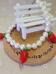 adorável cenoura jóias branco colar de garota popular