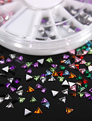 600PCS Colorful Triangular Flatback Acrylic Gems Handmade DIY Craft Material/Clothing Accessories