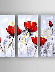 Oil Painting  Flower Set of 3  Hand Painted Canvas with Stretched Framed