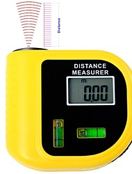 LCD Digital Ultrasonic Laser Distance Meter Electronic Tape and Laser Pointer Range Finder Level Tool (2~60ft,+/-5%)