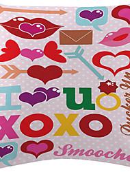 voando veludo coração cover decorativo travesseiro
