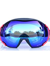 BASTO, снежные очки с черной рамкой (сноуборд, лыжи), зеркальная поверхность