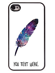 capa de metal personalizada para iPhone 4 / 4S tema de pena