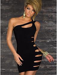 un hombro oomph de las mujeres cortó el vestido bodycon moda sexy