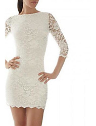 Women's European Lace Backless Dress